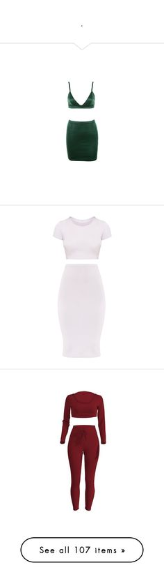 """""""."""" by idc-baby ❤ liked on Polyvore featuring co-ords, two piece, dresses, outfits, white jersey, red, jumpsuits, rompers, pants and set"""