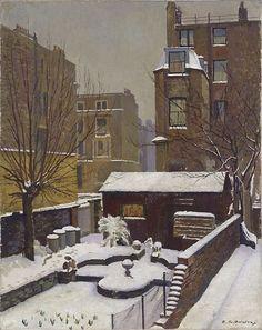 Douglas Dundas (Australian, 1900-1981) Snow in Kensington, 1952. Oil on canvas. Art gallery NSW.