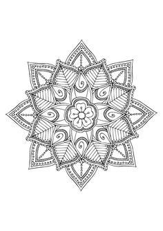 Ideas Art Nouveau Tattoo Ideas Coloring Pages Mandala Doodle, Henna Mandala, Mandala Drawing, Mandala Tattoo, Mandala Art, Tattoo Art, Mandala Design, Mandala Pattern, Zentangle Patterns