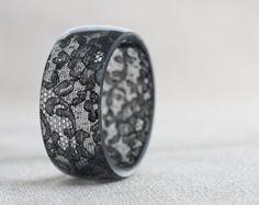 Encaje resina brazalete pulsera Vintage francés por daimblond