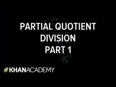 Partial quotient method of division Division Strategies, Math Division, Long Division, Multiplication And Division, Math Teacher, Teaching Math, Teaching Ideas, Partial Quotient Division, Partial Quotients