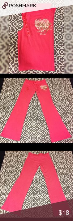 """Cute Pink Aero Sweatpants In good condition! Length of pants is around 39"""". Aeropostale Pants"""