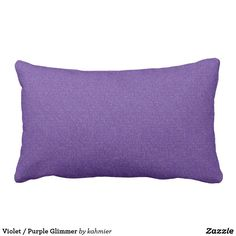 Violet / Purple Glimmer Lumbar Pillow