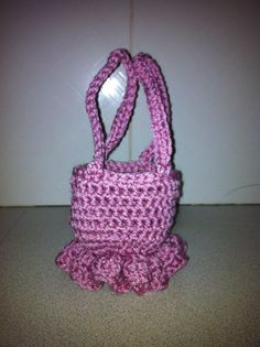 Ballerina purse. Crochet pattern from BobWilson123. Such a cute project.