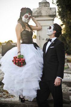 A Dia De Los Muertos Bridal Shoot · Rock n Roll Bride