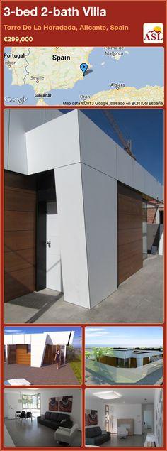 3-bed 2-bath Villa in Torre De La Horadada, Alicante, Spain ►€299,000 #PropertyForSaleInSpain