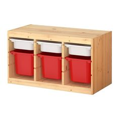 IKEA - TROFAST, Storage combination with boxes, , Several grooves so you can place boxes or shelves where you want them.