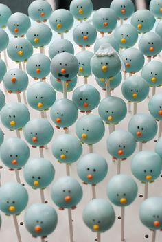 Blue Bird Cake Pops by Something Sweet For You, via Flickr