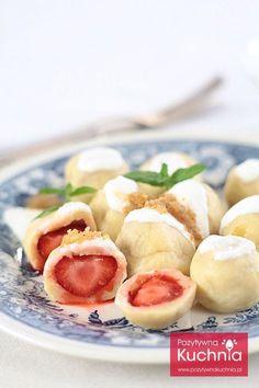 Najlepsze, polskie knedle z truskawkami.
