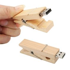 Creative Wooden Clip Pen Drive 8GB 16G 32G USB 2.0 Flash Drive Memory Stick Disk | eBay