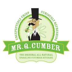 If you are tired of the regular brands and breeds of soda pop, then you may be pleasantly surprised by Mr. Q Cumber. A sip of this drink is said to be like biting into a crisp, fresh, cool cucumber. While the idea of turning cucumbers into soda may seem Dr Pepper, No Cook Meals, Inventions, Fails, Soda, Beverages, Logo Design, Sparkle, Stuffed Peppers