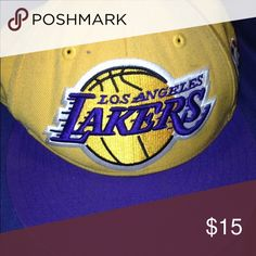 Los Angeles Lakers Hat Yellow, purple Los Angeles Lakers hat. Selling for $15 Accessories Hats