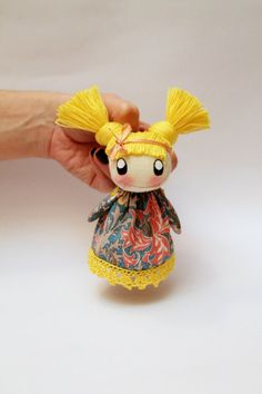♥ Textile brooch Sonja by DollsLittleAngels on Etsy, $13.00
