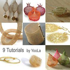 9 wire Crochet Patterns wie Draht Schmuck PDF Muster von Yoola