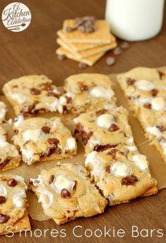 S'mores Cookie Bars Recipe l www.a-kitchen-addiction.com