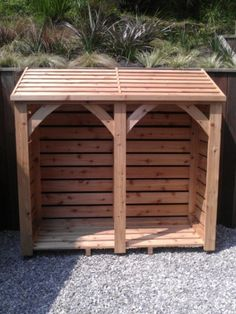 Individually handmade using Cedar wood this log store is x (approx x and costs 640 delivered constructed and ready to use. Outdoor Firewood Rack, Firewood Shed, Firewood Storage, Barn Plans, Shed Plans, Log Shed, Pallet Barn, Shed Construction, Log Store