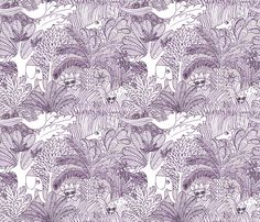 jungle gris fabric by nadja_petremand on Spoonflower - custom fabric