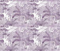 jungle gris fabric by nadja_petremand on Spoonflower - custom fabric