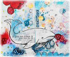 Susanne Rose Designs: Whale Love - Art Journal Page - Process Video