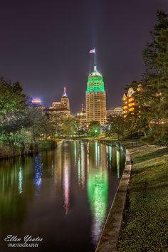 Tower Life Building Reflection at Riverwalk | San Antonio, TX