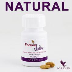 Forever Daily Vitaminokat, ásványi anyagokat és biológiailag aktív anyagokat tartalmazó étrend-kiegészítő A Forever Daily 55 különböző tápanyagot tartalmaz AOS biológiailag aktív komplex-szel kombinálva. Ezek aloéval társítva biztosítják a napi szükségletedhez elengedhetetlen vitaminokat és ásványi anyagokat. A Forever Daily az AOS komplexnek köszönhetően az egyik legjobb ásványi anyag szállító rendszer. #gabokakucko