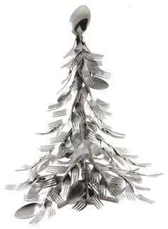 Christmas Tree - contemporary - Christmas Decorations - Forked Up Art, LLC