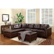 Milano Brown Bonded Leather Sectional Sofa Set w/Left Chaise 2 Pillows Large Home Office Furniture, Log Cabin Furniture, Office Furniture Stores, Acme Furniture, How To Clean Furniture, Furniture Upholstery, Cheap Furniture, Quality Furniture, Kids Furniture