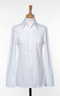 DOLLIS white Business Wear, Business Fashion, Chef Jackets, Blazer, Blouse, How To Wear, Tops, Women, Style