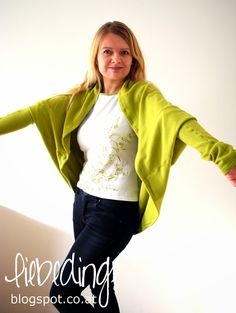 """liebedinge: DIY cocoon cardigan 39"""" x 55"""" total 10"""" arm piece x 2 cut off from above piece"""