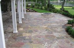 I would love to create a patio with Chilton stones and a fire pit.