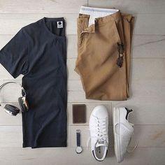 Mens outfit grid - jungmaven baja tee