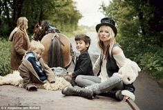 Real+Life+Gypsies | Horsing around: Kate posed with traveller children on a horsedrawn ...