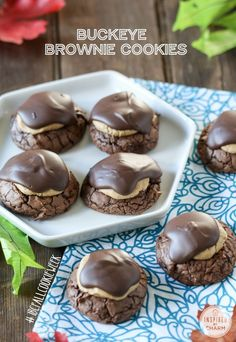 Buckeye Brownie Cookies...I make a version of these using marshmallows cut in half.  Need to try this recipe...love peanut butter!