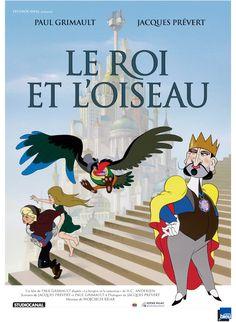 Le Roi et l'oiseau est un film de Paul Grimault avec Jean Martin, Pascal Mazzotti. Synopsis : Le Roi Charles V et Trois font Huit et Huit font Seize règne en tyran sur le royaume de Takicardie. Seul un Oiseau, enjoué et bavard, qui a construit