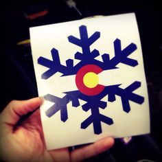 Colorado flag snowflake sticker on Etsy Reminds me of the best trip I have had in a long time and great friends! Colorado Homes, Visit Colorado, Arts And Crafts, Diy Crafts, Great Friends, Nativity, Snowflakes, Flag, Stickers