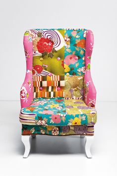 Kids Wing Chair Patchwork, for my girls room Wingback Chair, Armchair, Patchwork Chair, Patterned Chair, Relax, Kare Design, Wing Chair, Bohemian Decor, Side Chairs