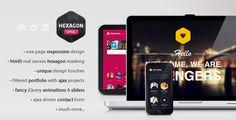 Hexagon – Responsive One Page Portfolio (HTML Template) » Frisch Inspiriert