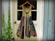 Hey, I found this really awesome Etsy listing at https://www.etsy.com/listing/194279291/s-m-beaded-boho-summer-dress-upcycled