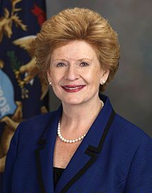 Debbie Stabenow, Democrat, junior  Senator from Michigan. Chairwoman of the Senate Agriculture Committee. She was re-elected to the seat for a third term in November 2012.