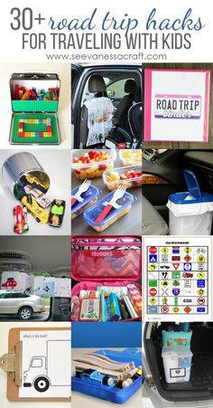 Road Trip Hacks and Activities for Kids - See Vanessa Craft Over 30 Road Trip Hacks & Activities for Traveling With Kids Road Trip Activities, Road Trip Games, Activities For Kids, Road Trip Tips, Toddler Car Ride Activities, Road Trip Crafts, Road Trip Snacks, Road Trip With Kids, Family Road Trips