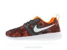100% authentic 0da59 a073c Nike Roshe Run Vol Poids GS Gris foncé   Blanc-Orange-Noir total Nike
