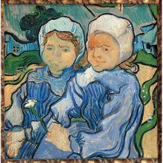 Two Little Girls Canvas Art - (18 x 24)