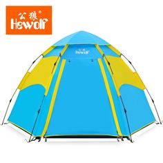 57.11$  Watch now - http://ai4og.worlditems.win/all/product.php?id=32781783297 - Hewolf 3-4persons full automatic tent outdoor camping hex camping equipment single layer high quality family beach tent