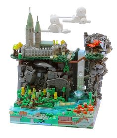 Amazing Lego microbuild - I love the techniques for the wall, cloud and castle, and the different levels of build are great!