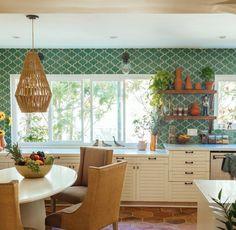 Mediterranean House Plans, Mediterranean Home Decor, Mediterranean Architecture, Style Villa, Kitchen Design, Kitchen Decor, Tropical Home Decor, Entryway Decor, Modern Decor