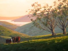 Northern California Landscape Painting, original oil painting, Marin County, Pt. Reyes National Seashore http://terrysauve.com/available-painting/