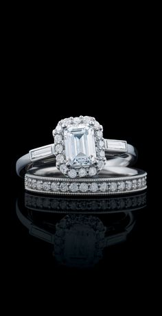 122884 / Semi-Set / White / Emerald / 7 x 5 mm / Polished / CTW Diamond Semi-set Engagement Ring Emerald Cut Diamonds, Diamond Cuts, Emerald Cut Engagement, Engagement Rings, Bridal Sets, Halo, Bling, Masters, Jewelry
