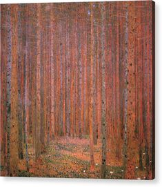 Bring the artistic genius of Symbolist painter Gustav Klimt to your home with the Oriental Furniture Tannenwald by Klimt Wall Art . Reproduced here on. Gustav Klimt, Art Klimt, Painting Edges, Painting Prints, Art Prints, Klimt Prints, Art Nouveau, Medieval Paintings, Forest Design