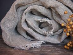 Linen Eco Scarf Natural Linen Women Accessories by LinenSence