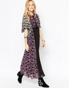ASOS Maxi Dress in Mixed Print